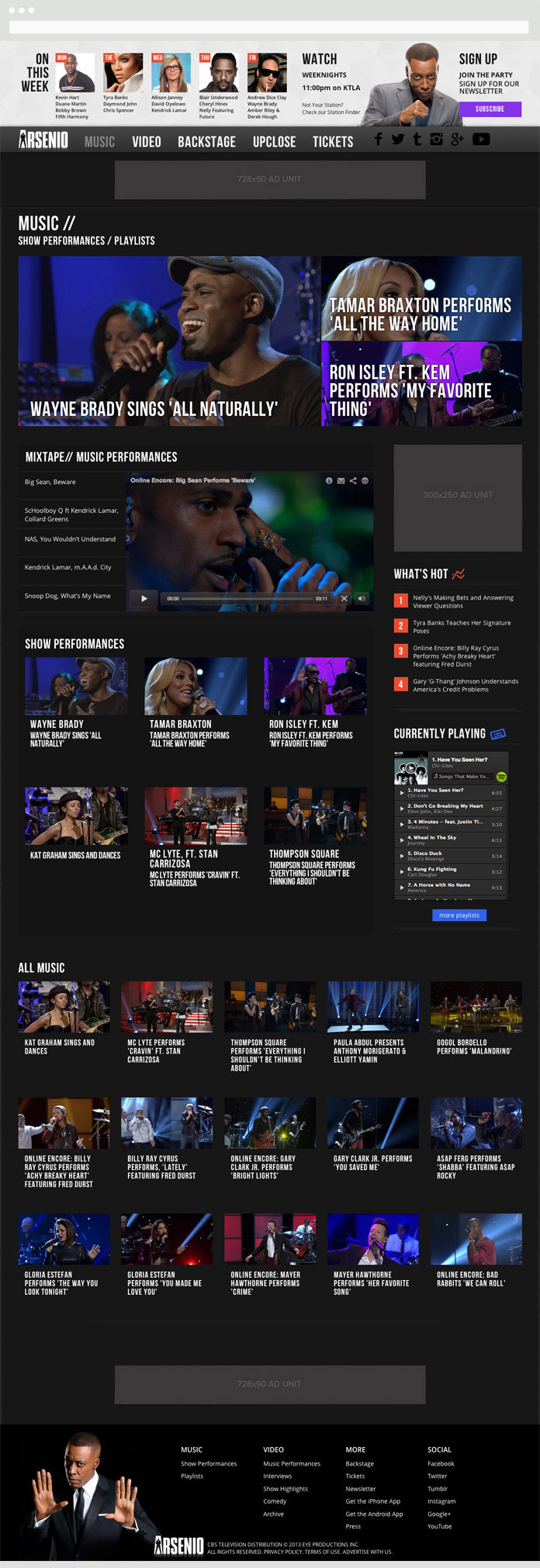 Image of the Arsenio Hall Music Page