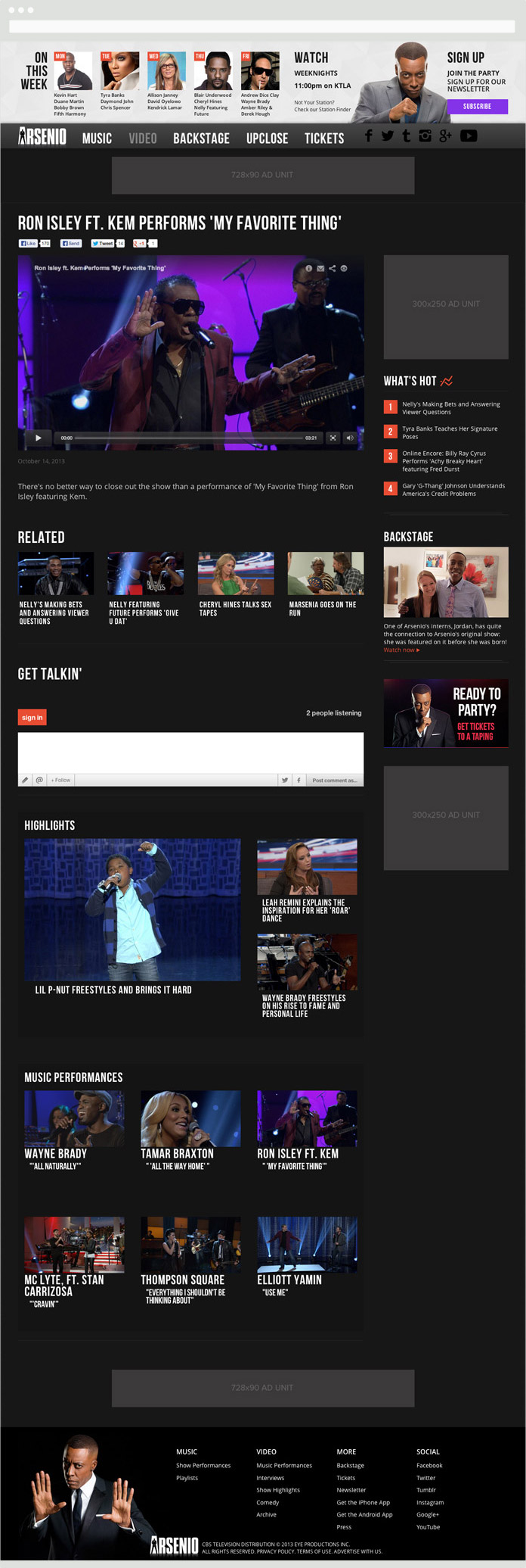 Image of the Arsenio Hall Article Page