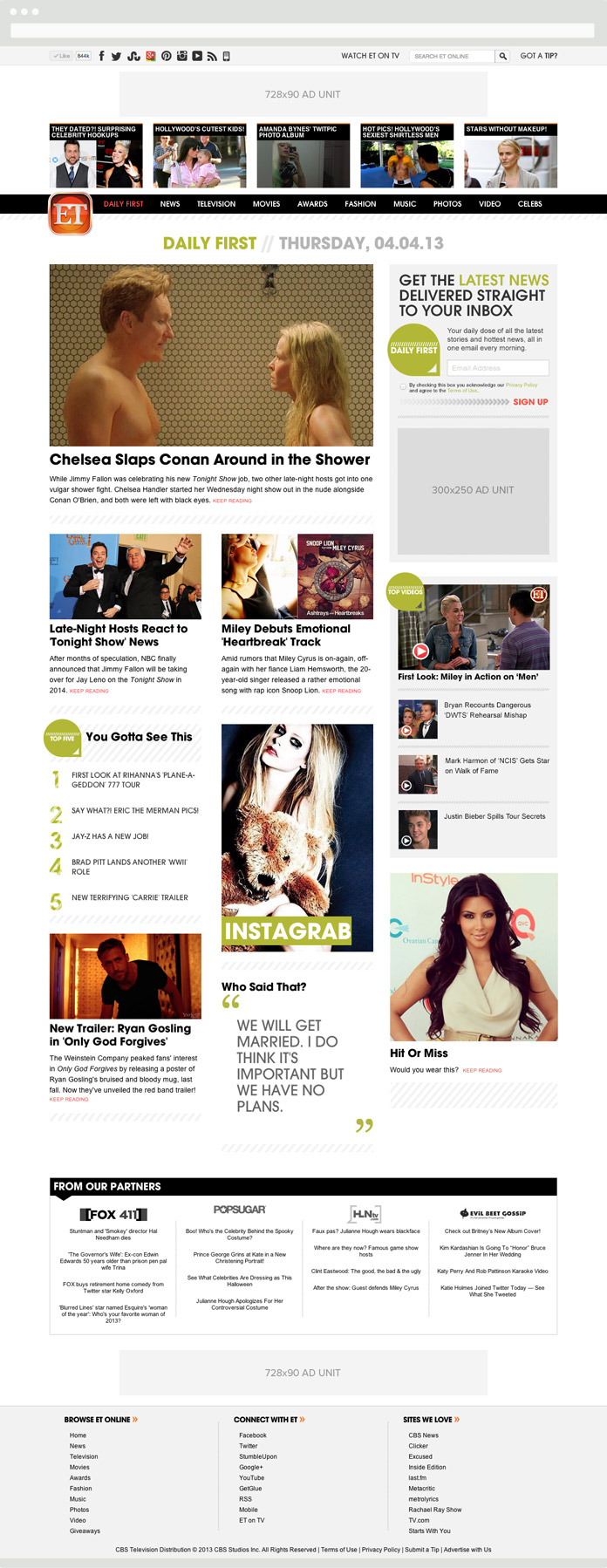 Image of the Daily First on Desktop
