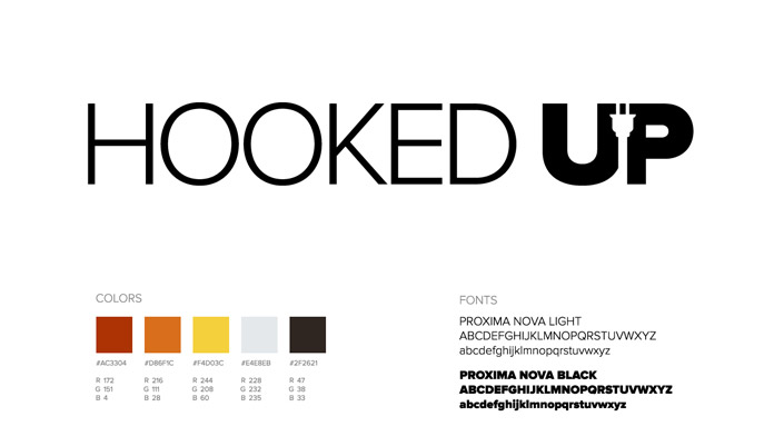 Hooked Up Logo Mark