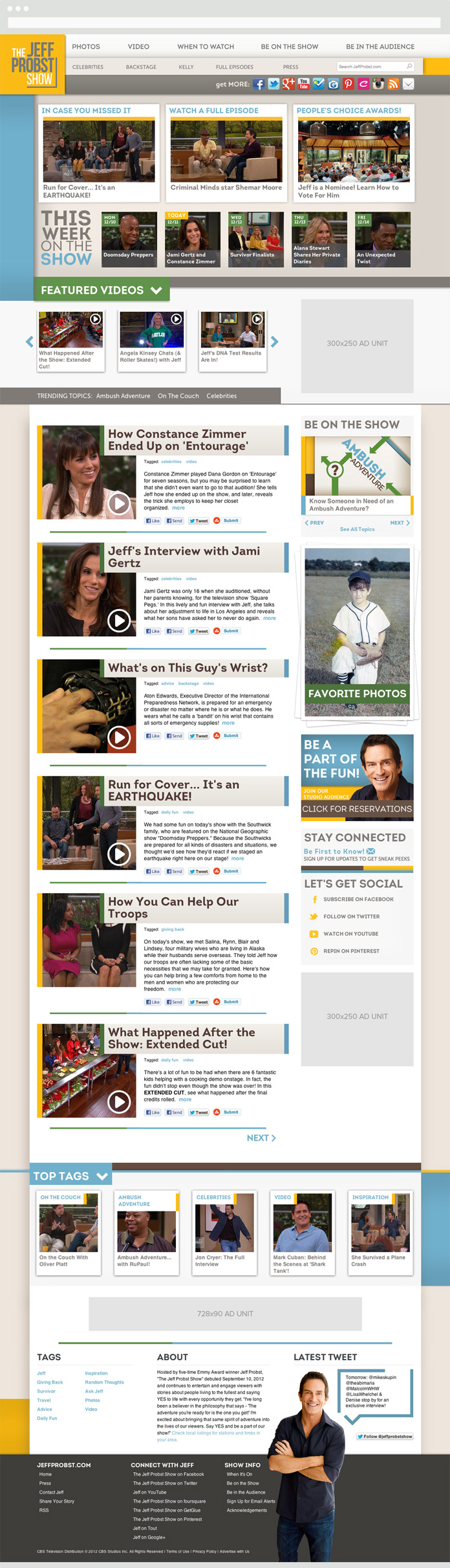 Image of The Jeff Probst Show Homepage