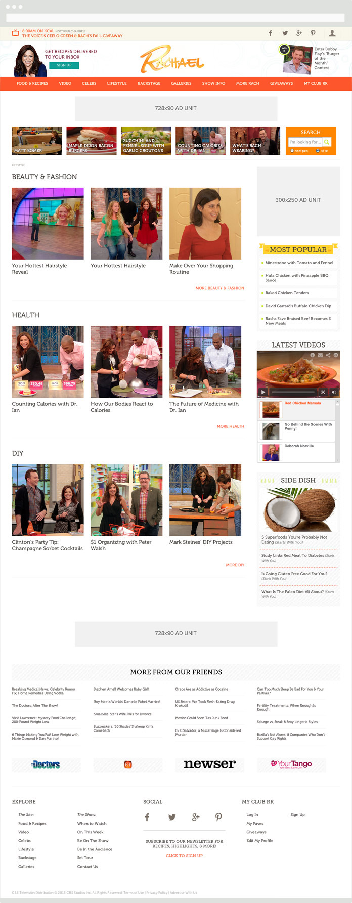 Image of the Rachael Ray Hub Pages