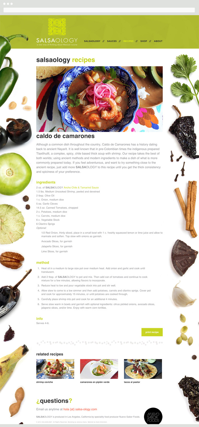 Image of a Salsaology Recipe Page