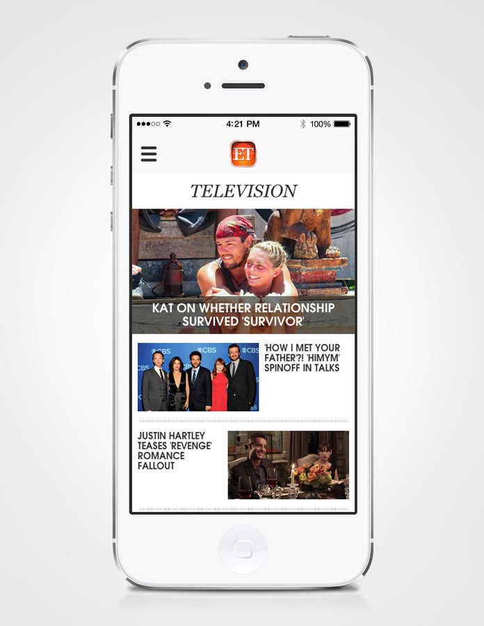 ET Mobile Hub Page