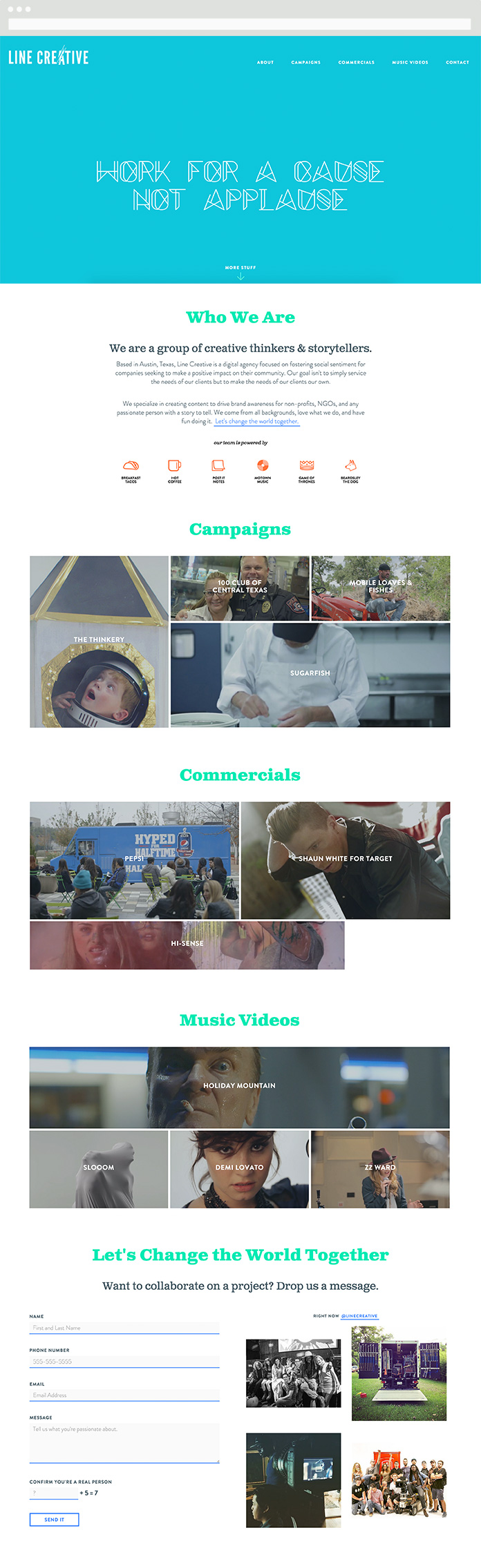 Image of Line Creative Homepage