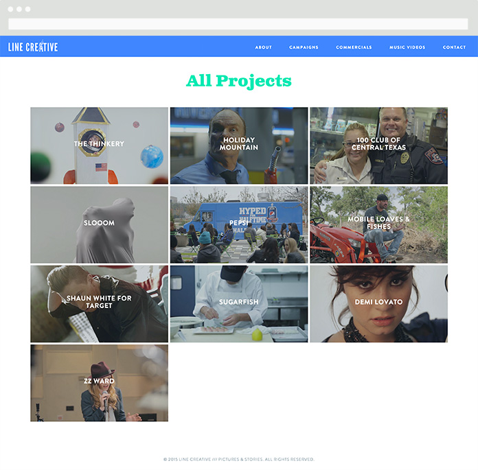 Image of Line Creative Projects Page