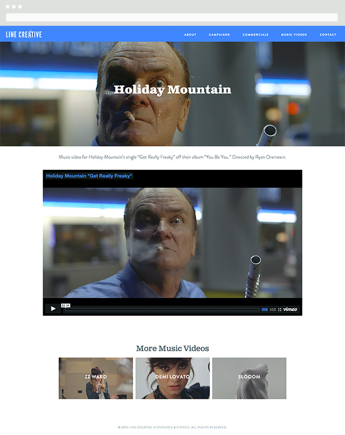 Image of Line Creative Video Page